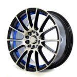 KT Design G166 Black Pol Blue Line